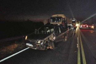Trágica colisión en Cululú  - Como consecuencia del encontronazo el motociclista dejó de existir prácticamente en el acto. -