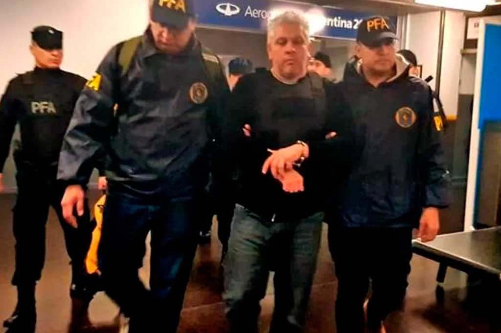 Gutiérrez al ser detenido en 2018 Crédito: Gentileza