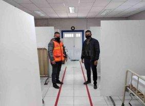 En Pilar funcionarios de Protección Civil recorrieron espacios de salud destinados a la pandemia