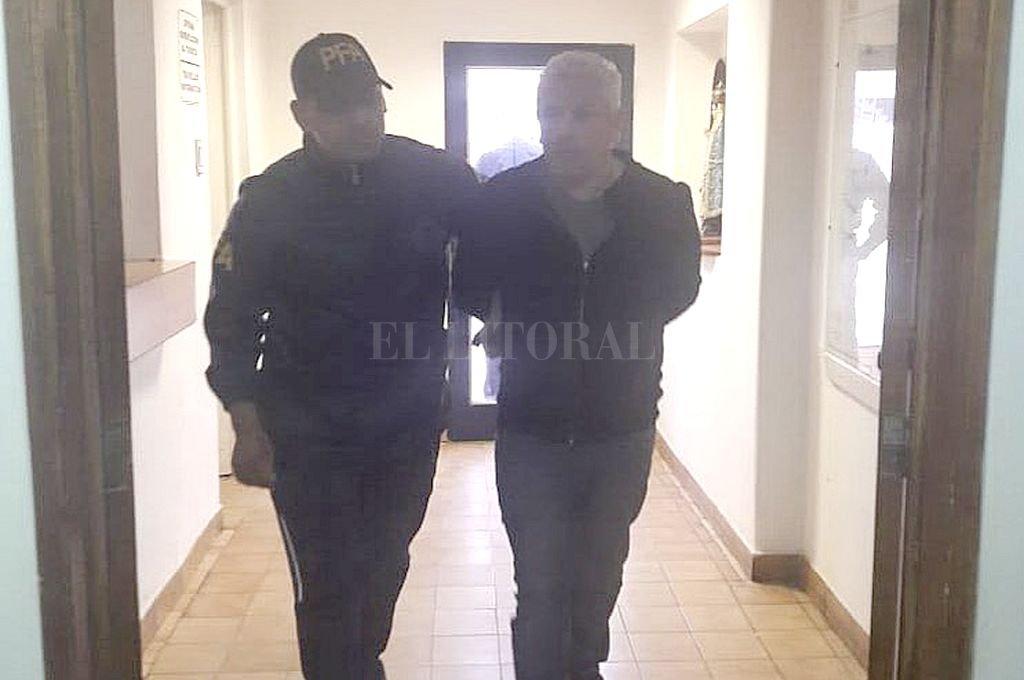 Fabián Gutiérrez cuando fue detenido, en septiembre de 2018. Crédito: Archivo El Litoral