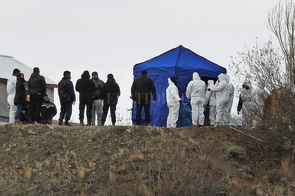 Lugar donde fue hallado el cuerpo de Fabián Gutiérrez. Crédito: NA
