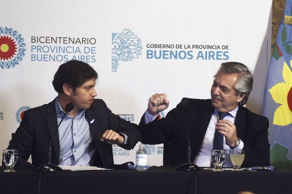 Axel Kicillof y Alberto Fernández Crédito: Archivo El Litoral