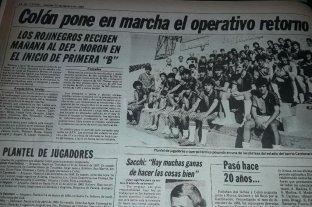 Aquélla patriada generosa  de don Joaquín Peirotén  - Así lo anunció El Litoral, el día previo al inicio del torneo y el debut ante Deportivo Morón en 1985. -