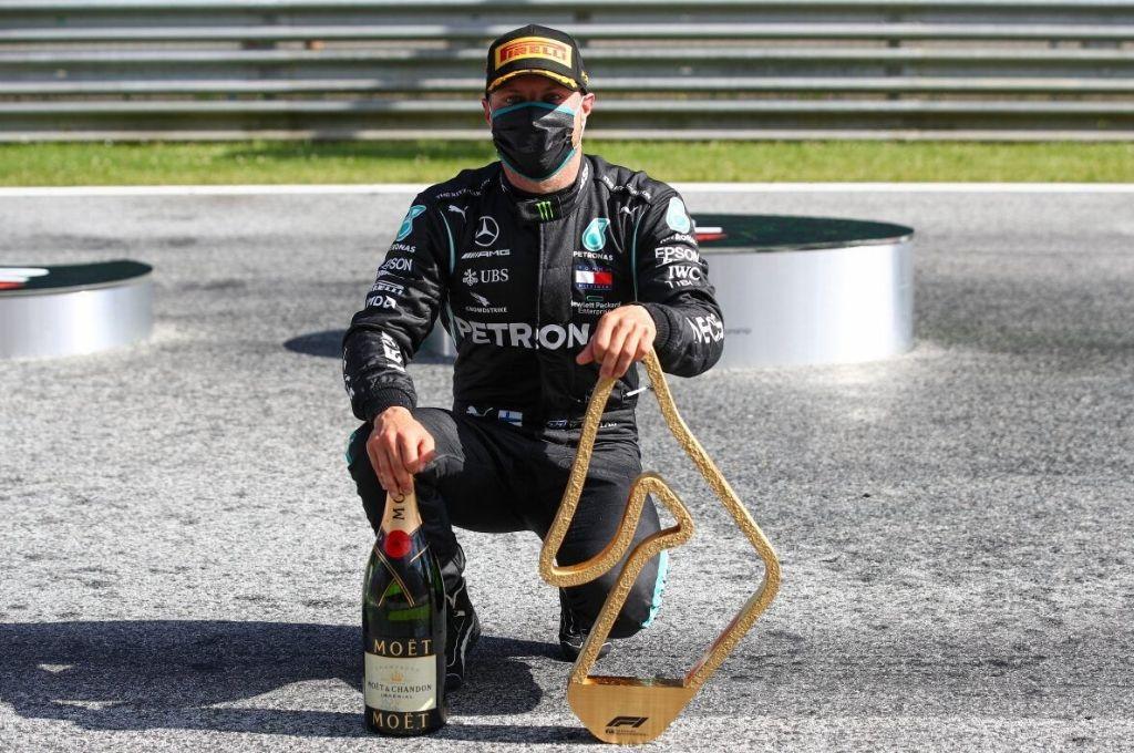 Tras el gran triunfo de punta a punta en Austria, Valtteri Bottas fue ratificado por el poderoso equipo Mercedes, que domina con amplitud la categoría. Crédito: Archivo