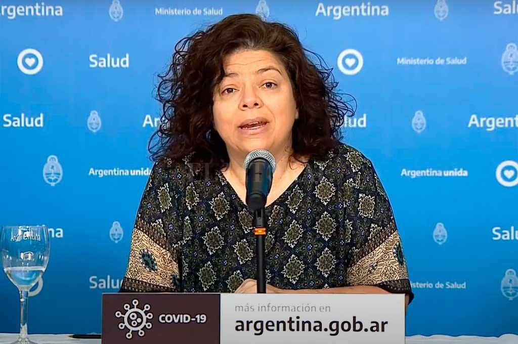 Carla Vizzotti, secretaria de Acceso a la Salud. Crédito: Gentileza