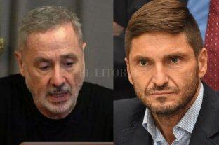 En algo coinciden - Marcelo Sain y Maximiliano Pullaro. -