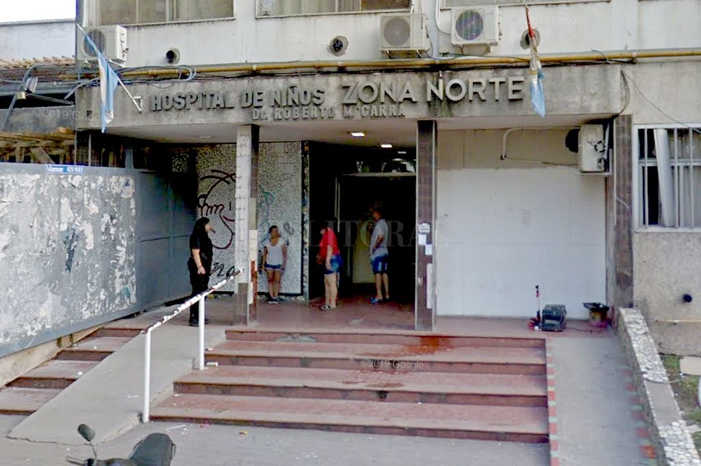El menor está internado en el Hospital de Niños Zona Norte de Rosario. Crédito: Captura digital - Google Maps Streetview