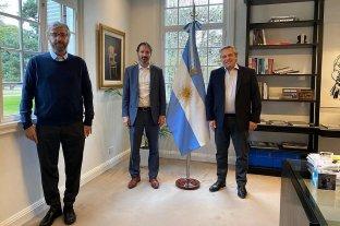 Por qué la Argentina fue elegida para las pruebas de una vacuna contra el Covid-19 - Alberto Fernández recibió en Olivos al gerente general del laboratorio farmacéutico Pfizer, Nicolás Vaquer, y al director científico de la Fundación INFANT, Fernando Polack. -