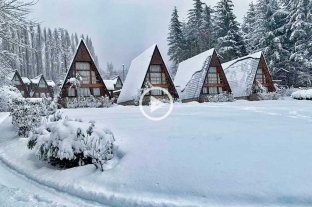La nevada en Bariloche no cesa: fotos y videos -  -