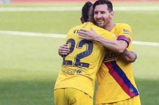 Messi sumó otro récord en el triunfo del Barcelona, que le mete presión al Real Madrid