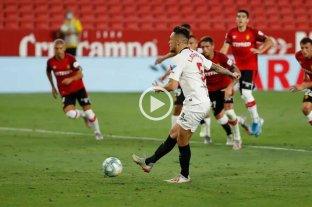 """Video: el penal """"sin mirar"""" de Lucas Ocampos que sorprendió al fútbol español"""