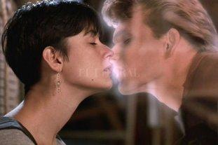 """El amor es más fuerte - Molly (Demi Moore) se despide del fantasma de su amado Sam (Patrick Swayze). El American Film Institute ubicó a """"Ghost"""" en el puesto 19 entre las mejores historias de amor del cine estadounidense, un escalón más abajo que """"Vértigo"""". -"""