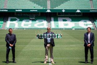 Pellegrini fue presentado en el Betis