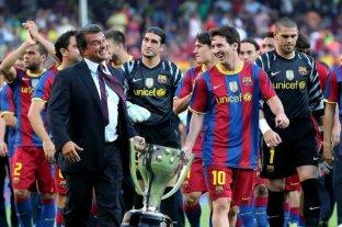 """""""El futuro de Messi es motivo de preocupación"""", dijo el expresidente del Barcelona Laporta"""