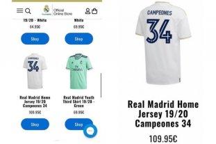 Insólito: El Real Madrid puso por error a la venta la camiseta del campeón antes de definir el título