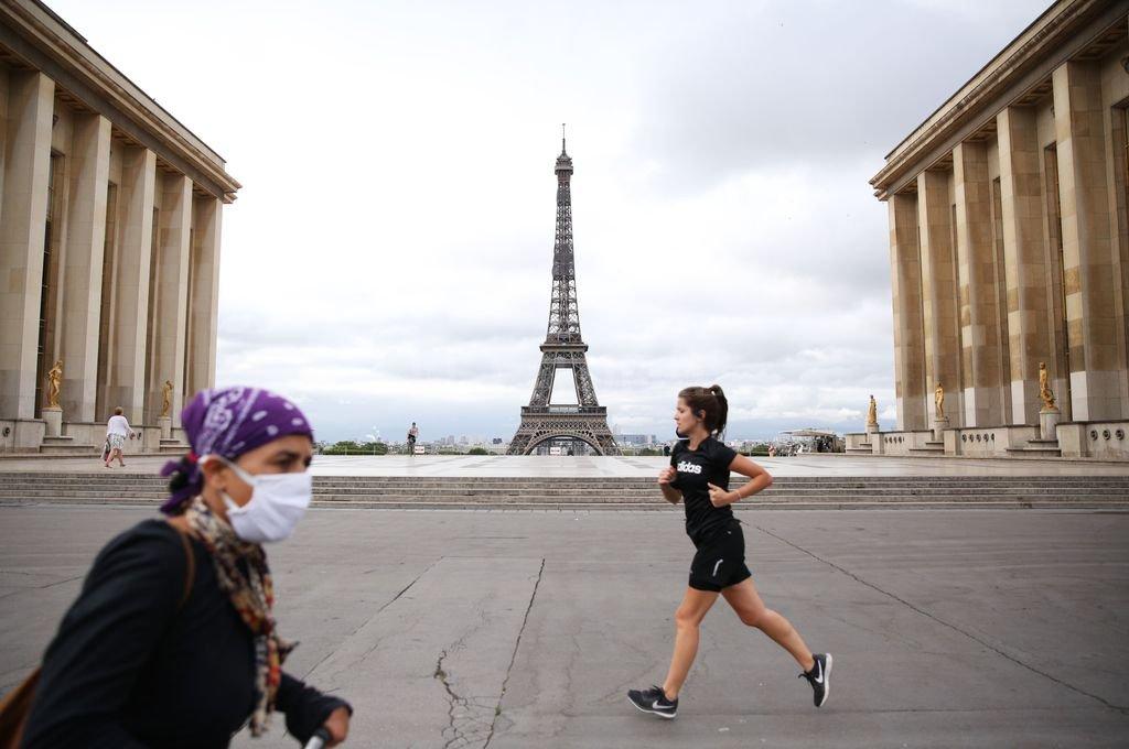 París en tiempos de coronavirus.  Crédito: Agencia Xinhua
