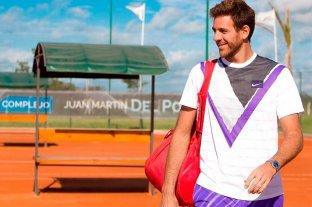 Del Potro sigue en plena recuperación y ya practica en una cancha de tenis