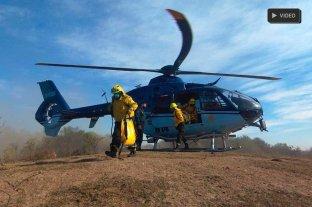 Con base en Costanera Este, suman un helicóptero para sofocar incendios
