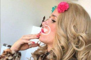 Video: Moni Argento bailó al ritmo de Los Palmeras por el Día del Amigo