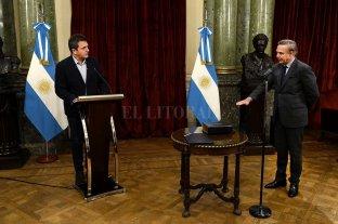 Massa tomó juramento a Pichetto como auditor de la AGN