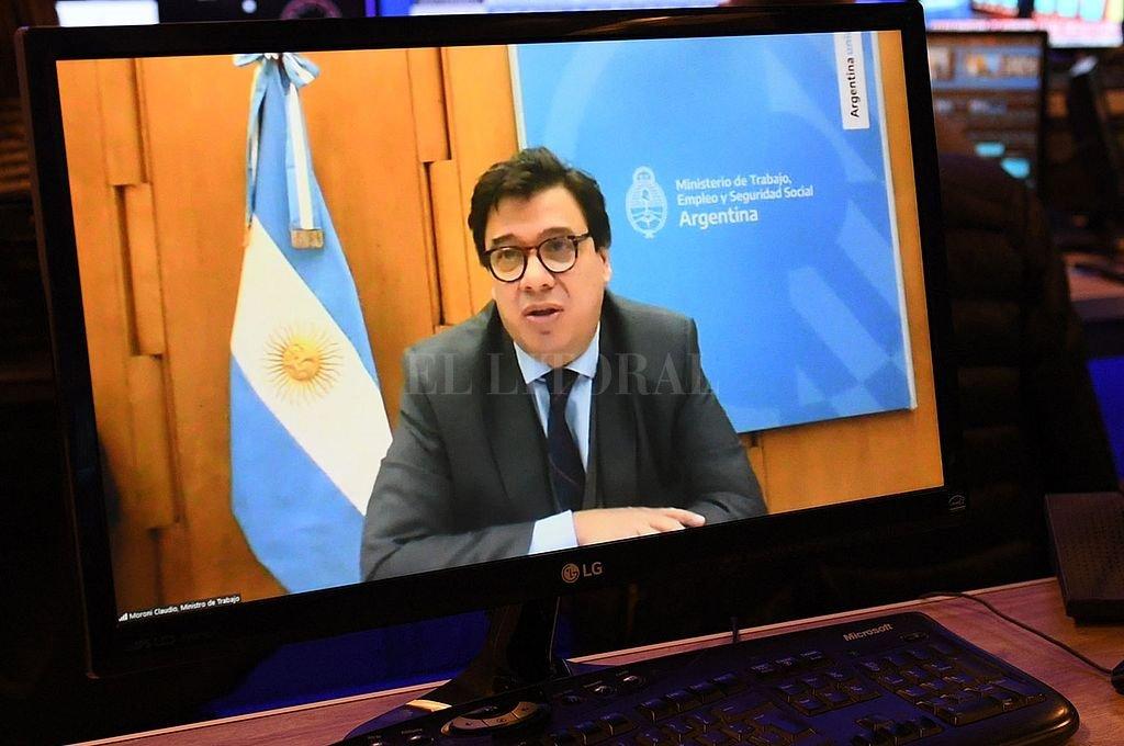 Claudio Moroni, ministro de Trabajo de la Nación. Crédito: NA