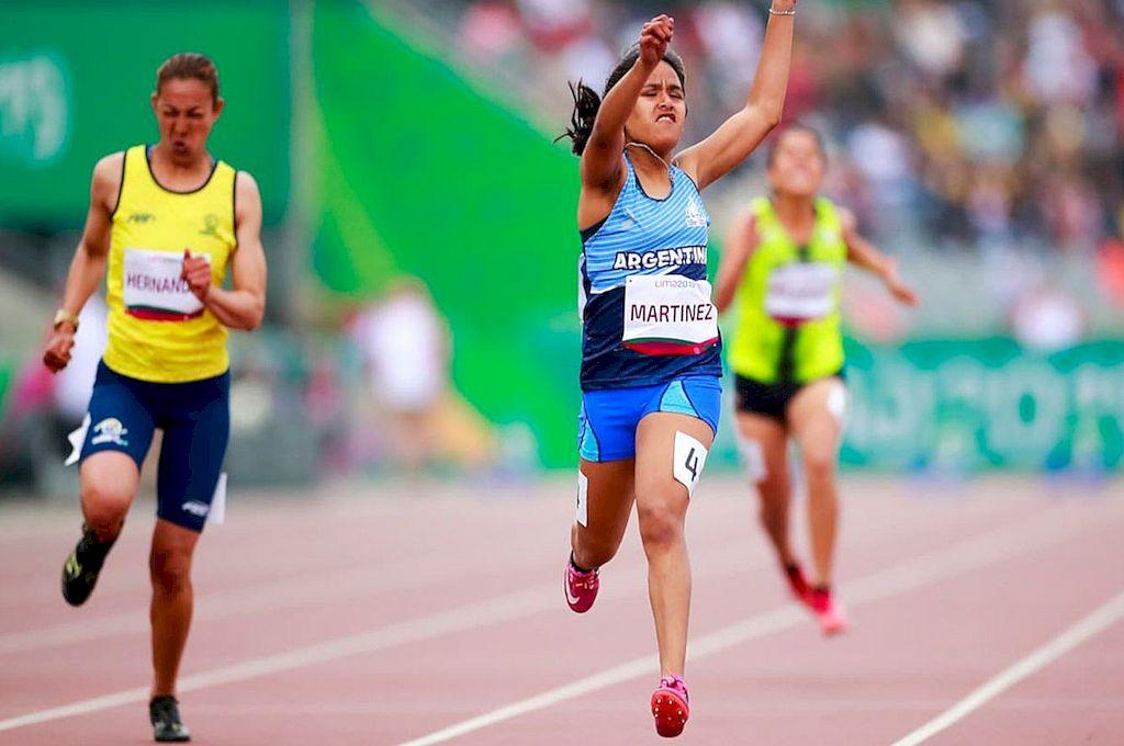 La rosarina Yanina Martínez obtuvo el oro en los Juegos Paralímpicos de Río 2016.  Crédito: Archivo