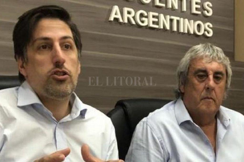Nicolás Trotta y Sergio Romero. Crédito: Prensa UDA