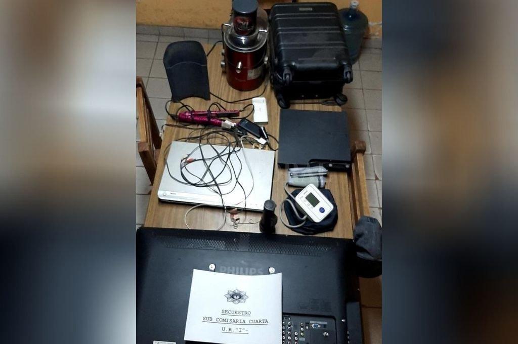 Parte de los elementos recuperados por la policía. Crédito: El Litoral
