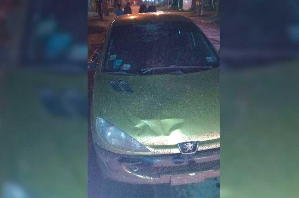 El siniestro se produjo el viernes por la madrugada, en Pedro Gaggero y avenida 9 de Julio. Crédito: Gentileza Mi Radio San Justo