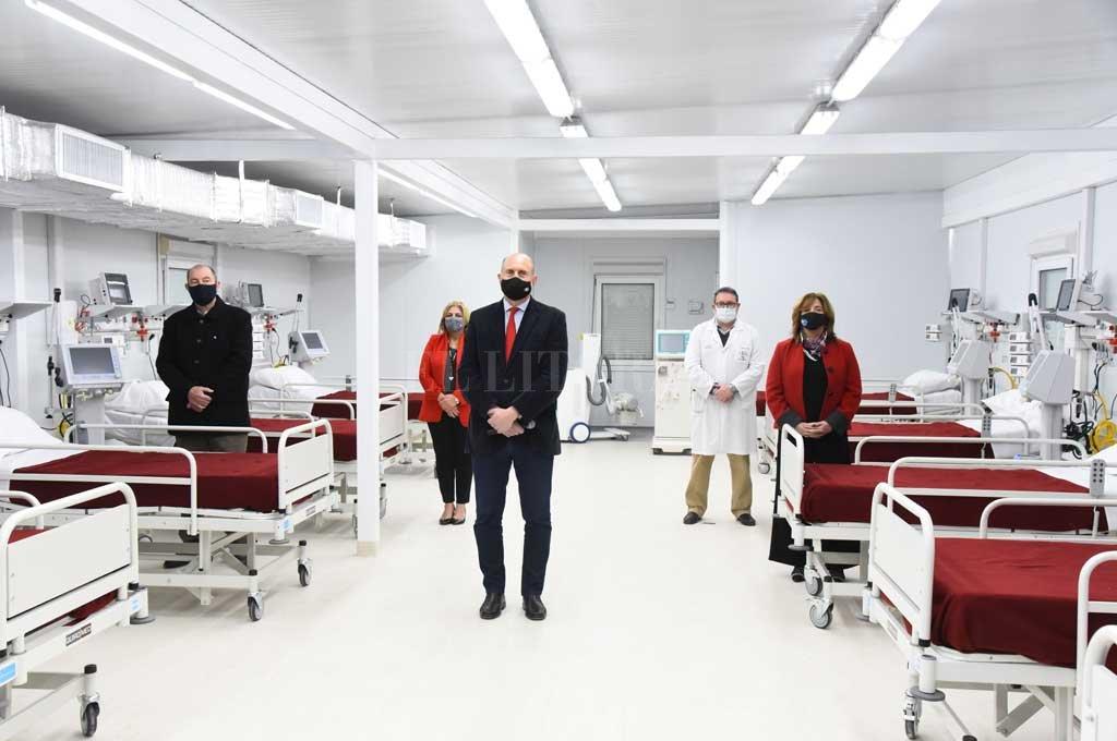 Las nuevas instalaciones suman 76 camas para atender la pandemia. Crédito: Gobierno de Santa Fe