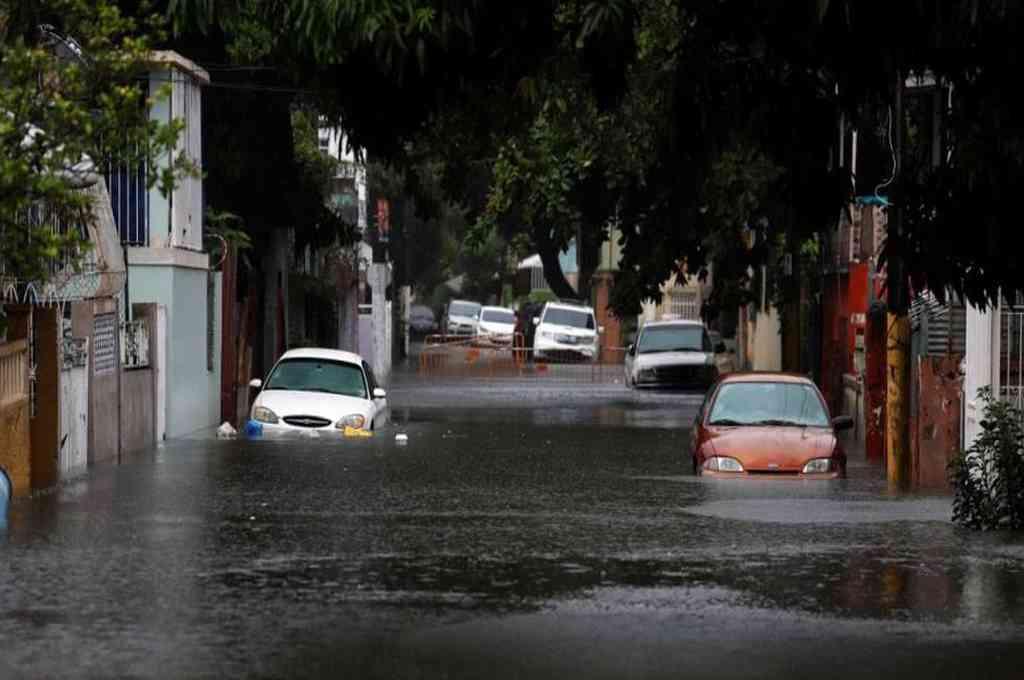 La tormenta Isaías dejó inundaciones en Puerto Rico. Crédito: EFE