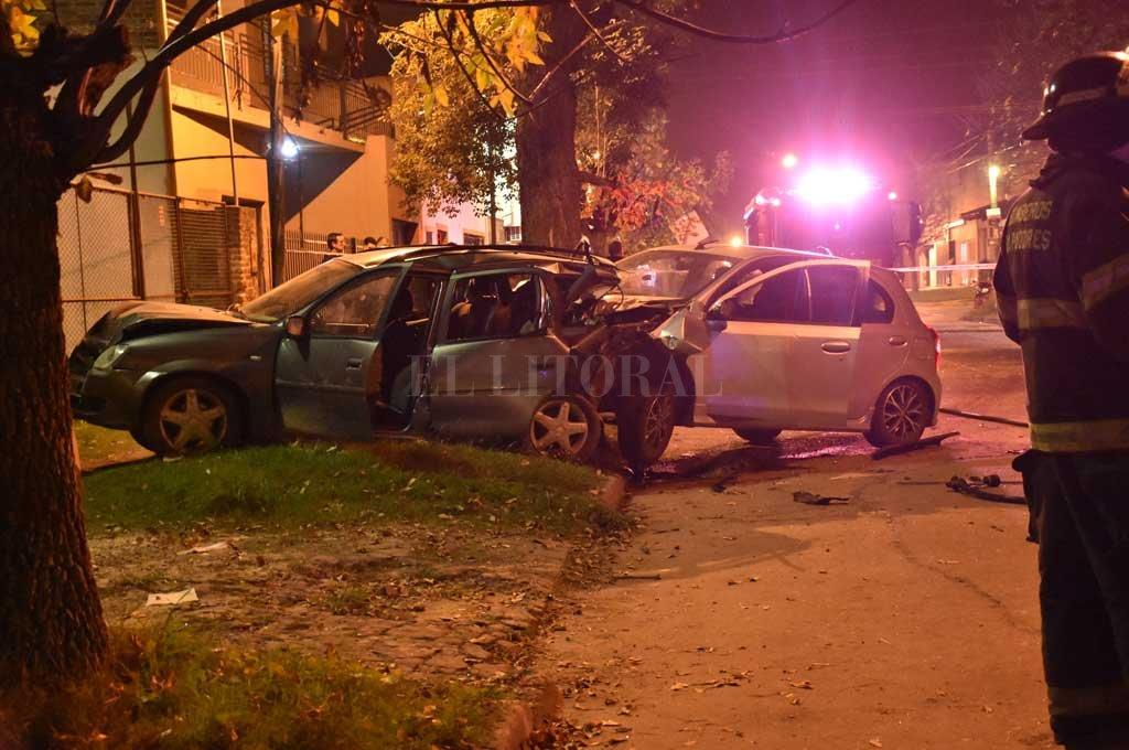 El choque se produjo la noche del 13 de mayo de 2019, en las calles del barrio Villa María Selva. Crédito: Archivo El Litoral / Manuel Fabatía