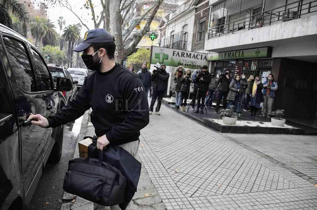 La vivienda de Ponce Asahad fue allanada este viernes en Oroño 1217, Rosario. Crédito: El Litoral