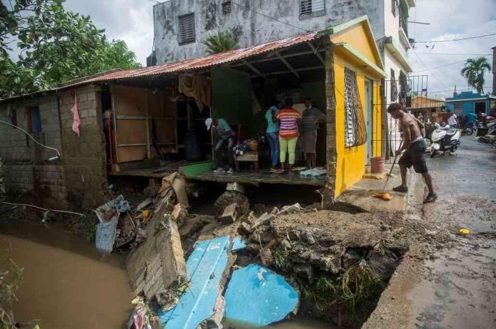 Una casa destruida en República Dominicana tras el paso del huracán Isaías. Crédito: Gentileza