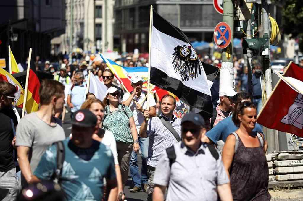 La marcha se inició en las inmediaciones de la emblemática Puerta de Brandeburgo. Crédito: Reuters