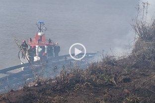 Incendio en la ex zona franca de Bolivia en Rosario