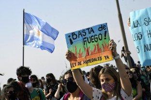 Manifestantes volvieron a cortar el puente Rosario-Victoria contra la quema de pasto en las islas