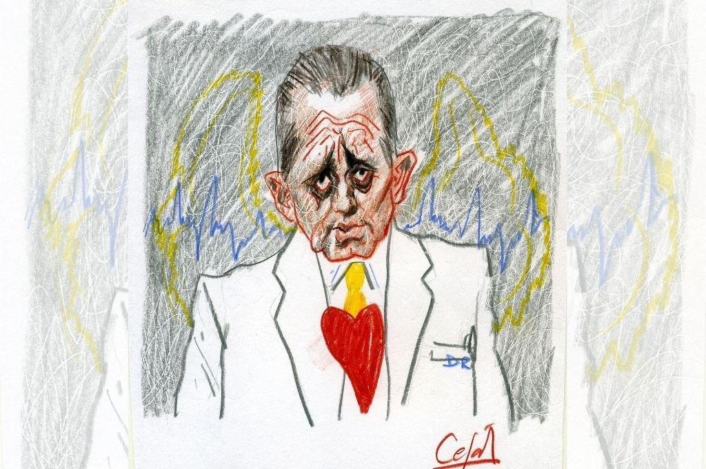 Dr. René Favaloro Crédito: Ilustración Lucas Cejas