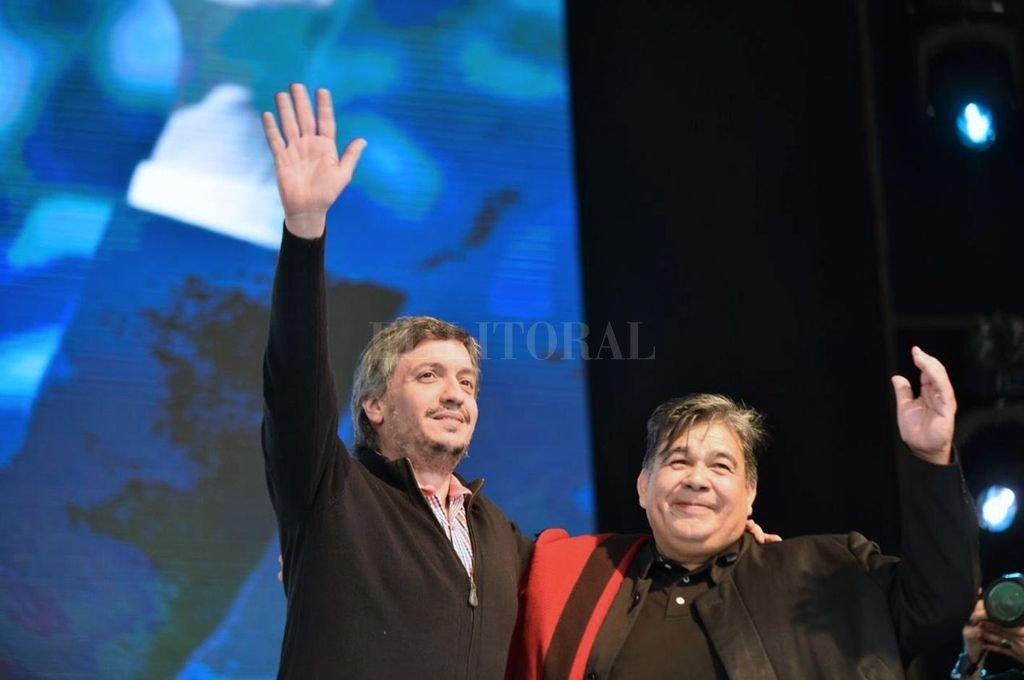 Máximo Kirchner junto a Mario Ishii  Crédito: Archivo El Litoral