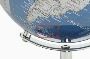 Escándalo en Londres por la venta de un globo terráqueo que llama Malvinas a las islas del Atlántico sur
