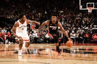 Toronto Raptors logró un apretado triunfo sobre Miami en la NBA