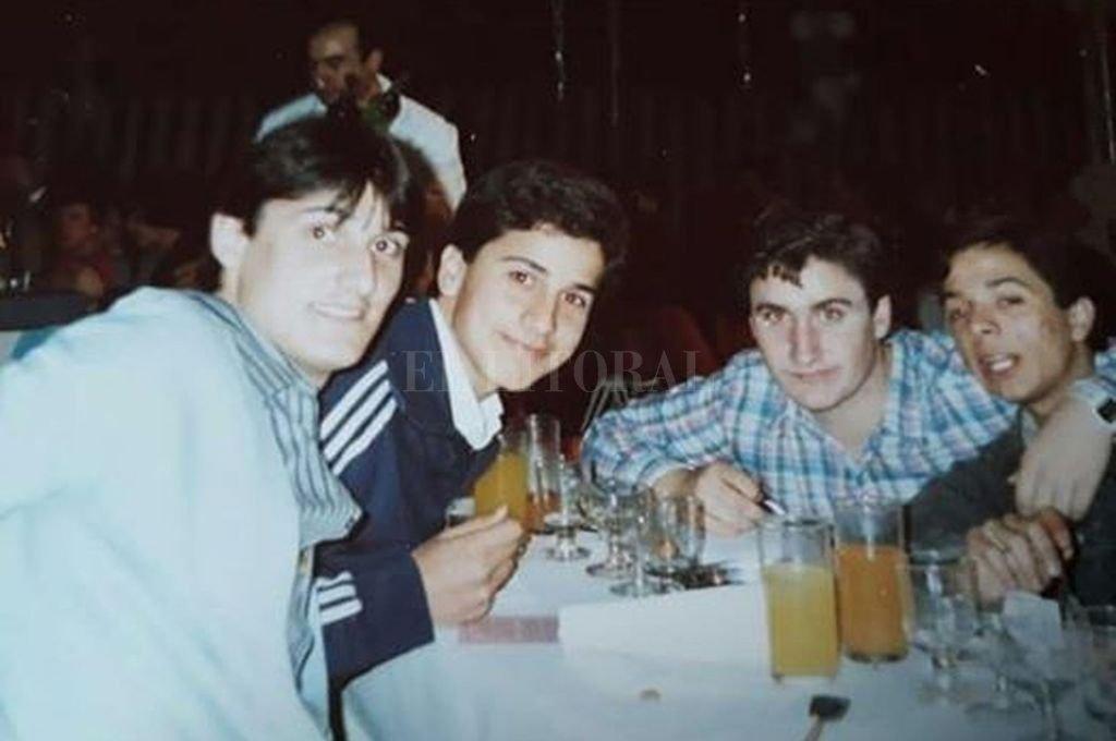 """""""Los 4 RAFT"""", Rata, Ale, Flaco y Tincho Crédito: Gentileza"""
