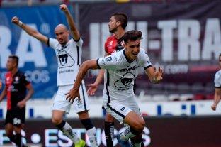 Pumas venció a Atlas, con dos goles del argentino Dinenno