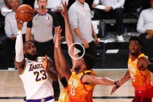 Lakers venció a Utah con 64 puntos de la dupla Anhony Davis-LeBron James