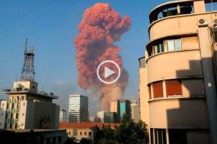 Impactantes videos de explosiones en Beirut: al menos 73 muertos -