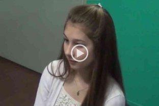 Difunden un video inédito donde Nahir Galarza denuncia un ataque sexual en manada - Nahir Galarza, durante la entrevista tras su denuncia por un ataque sexual en manada.