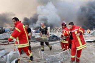 """Beirut se declara """"zona de desastre"""" tras la explosión"""