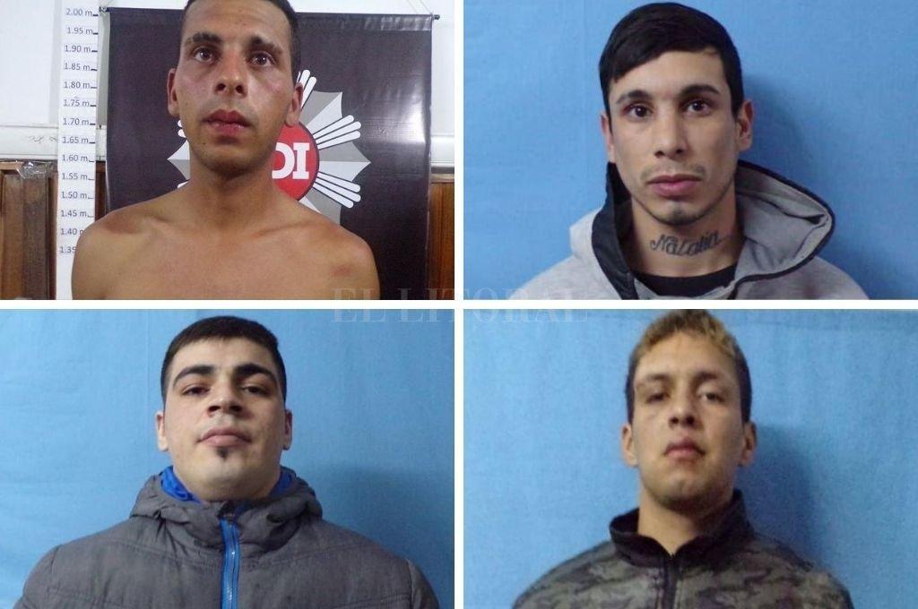 Los evadidos son Milton Quiroz, Facundo Suárez, Mauro González, Maximiliano Morales y Nahuel Orellana. Crédito: Gentileza