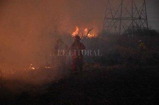 Tras el incendio, la EPE evaluará el estado de las líneas que atraviesan el Salado