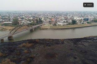 El día después de la quema de pastizales en Santo Tomé  -  -